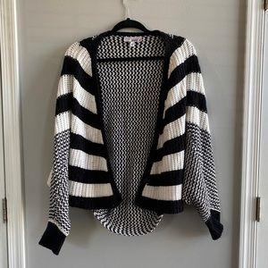 Black & White Dolman Sleeve Sweater